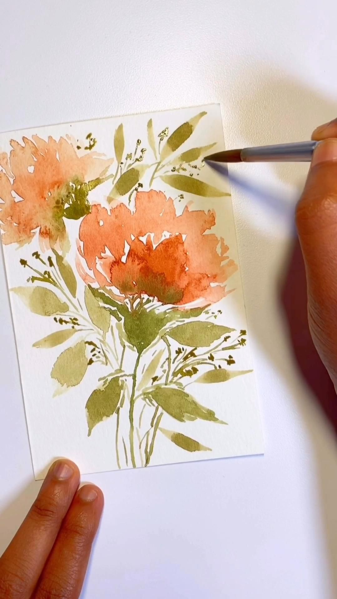 This is a simple watercolor floral bouquet tutorial! If you like this view more such tutorials in my watercolor tutorials board!