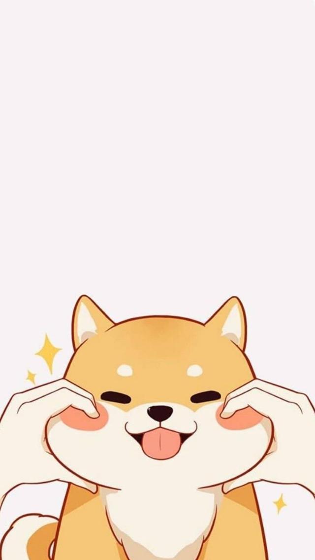 Cute Dog Phone Background Cute Cartoon Wallpapers Wallpaper Iphone Cute Cute Wallpapers