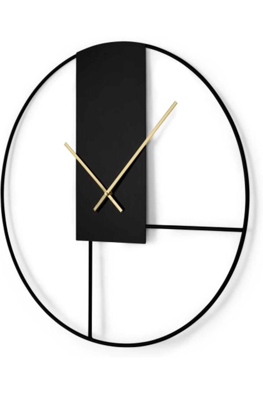 Made Com Horloges Murales Noir Laiton Horloge Murale Decoration Horloge Murale Grandes Horloges Murales