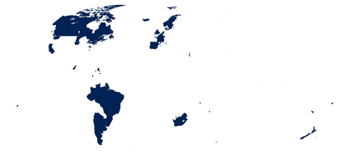 This is a world map. The places colored in have marriage equality ...