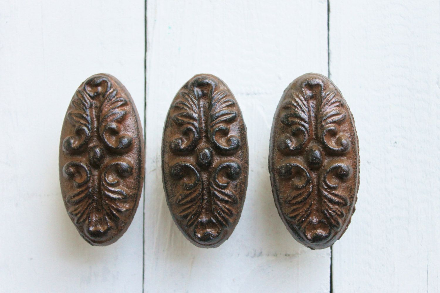Rustic Brown French Armoire Pulls Decorative Drawer Pull Handles
