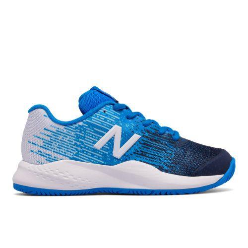 New Balance 996v3 Kids Boys Court Shoes Blue White Kc996ue3 Blue Shoes Court Shoes New Balance Sneaker