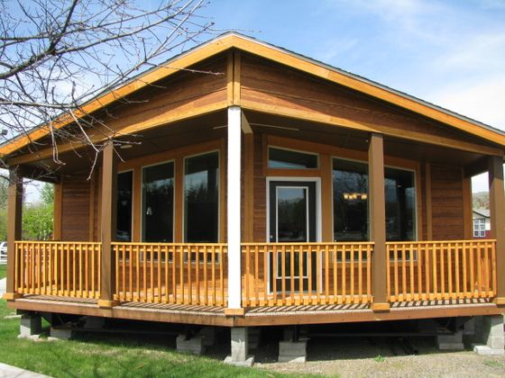 Log Cabin Double Wide Mobile Homes Bing Images Log Cabin Mobile Homes Mobile Home Doublewide Cabin Style