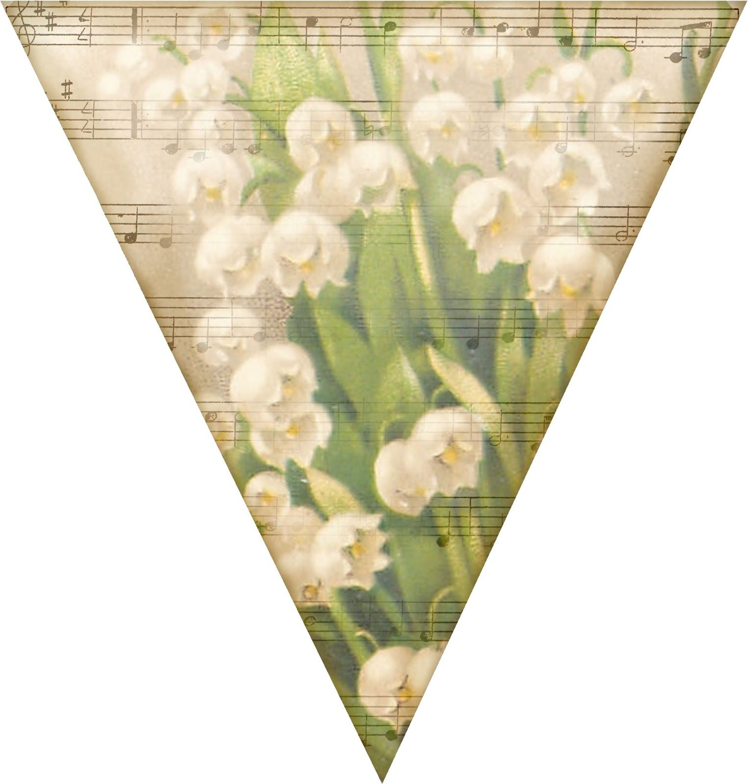 Sweetest Of The Flowers Pennant Lily Of The Valley And Sheet