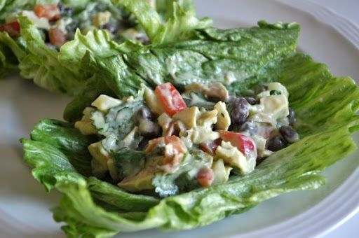 Southwest Chicken Salad Wraps with Avocado Lime Dressing ...