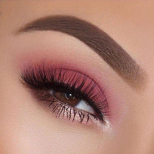 Pink and rose gold eye makeup