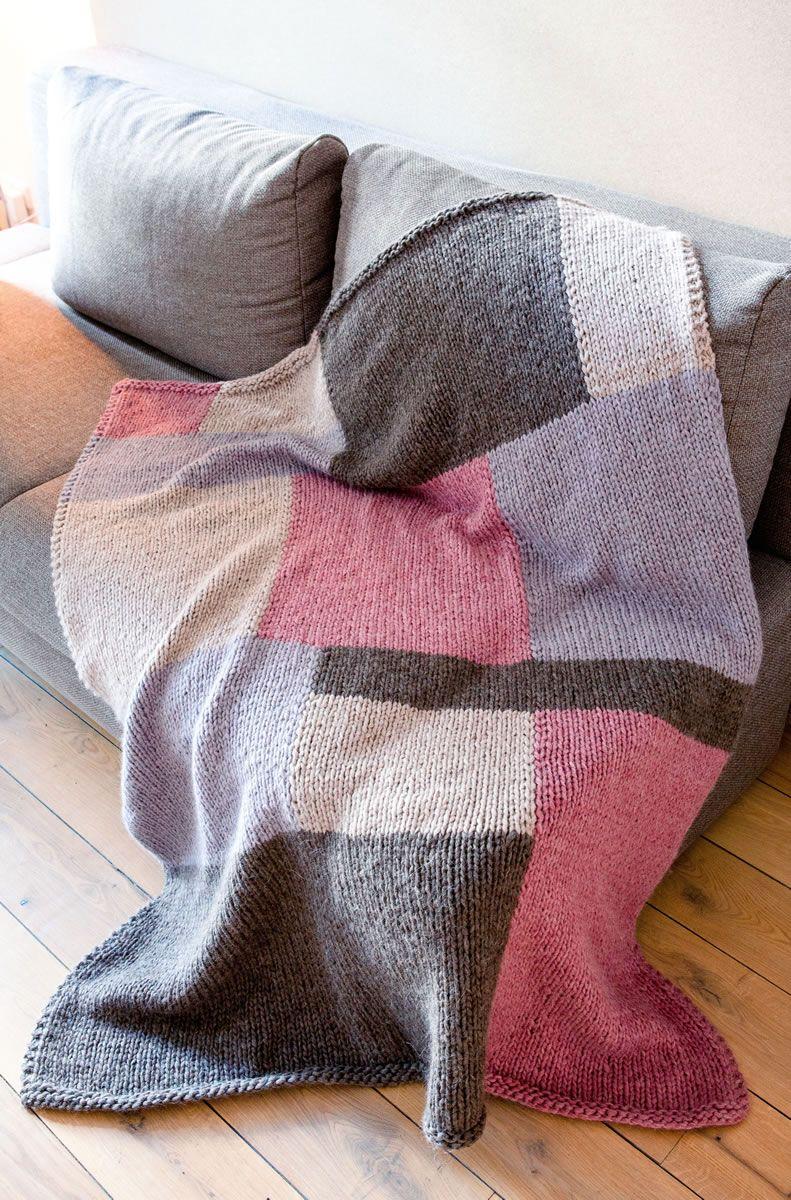 Lana Grossa Decke In Farbflächen Ambiente Filati Handstrick No 66
