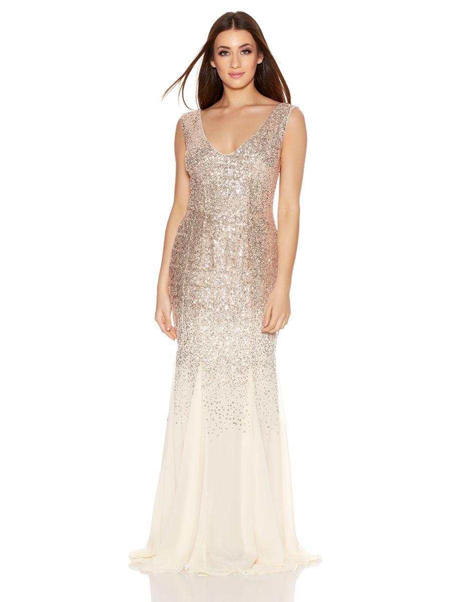 V neck chiffon maxi dress