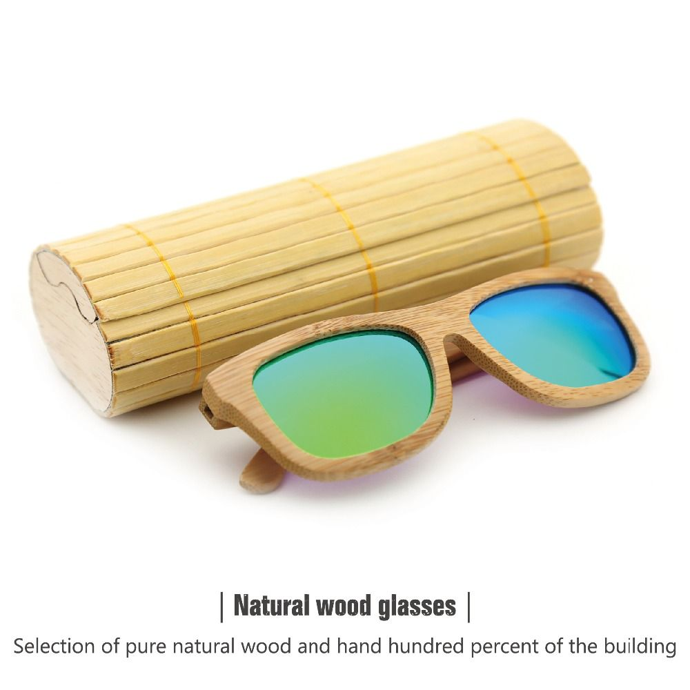 fashion products men women glass bamboo sunglasses au retro vintage wood lens wooden frame handmade just
