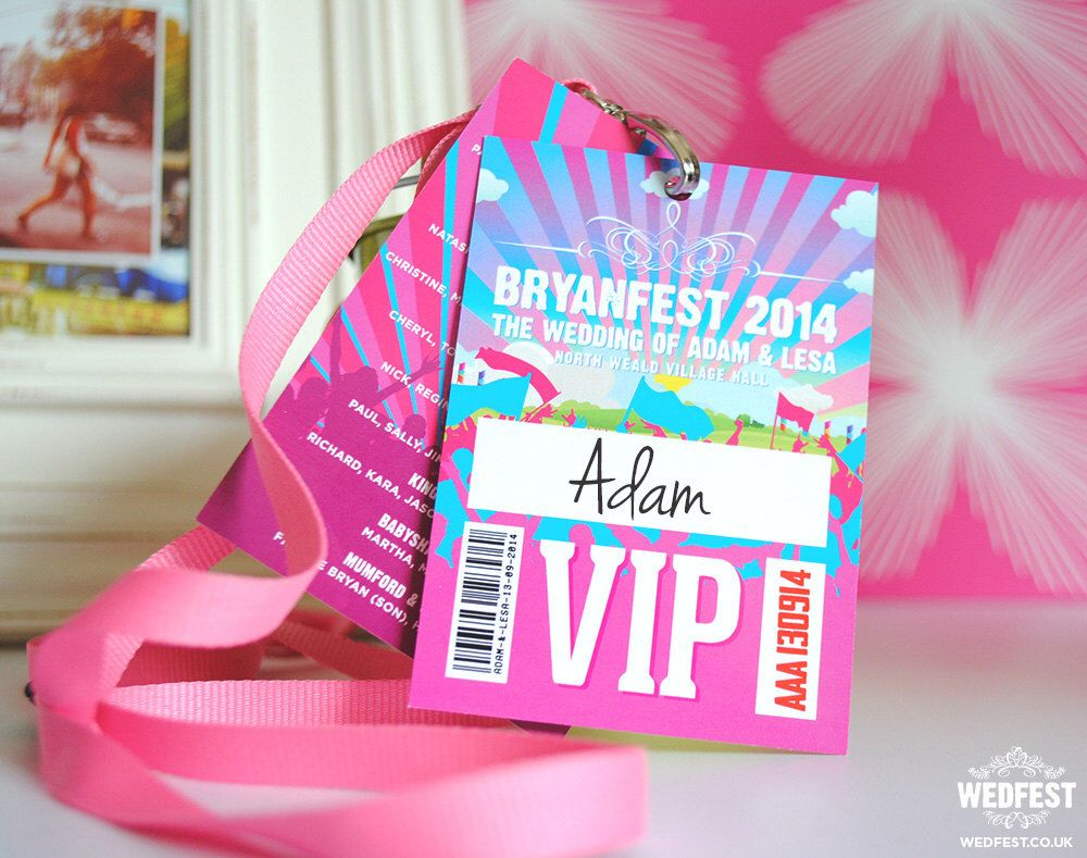 Wedfest Festival Wedding Lanyards programmes (samples) by ...