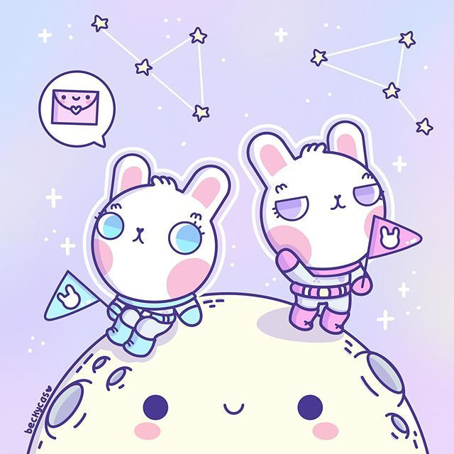 """Becky Cas on Instagram: """"Space Bunnies! 🙌🏻💕🤣 #mmeilove3kdtiys  Hi everyone! I am redrew some cute characters from @mmeiccaa #drawthisinyourstyle Challenge!🙌🏻💕💕 I…"""""""