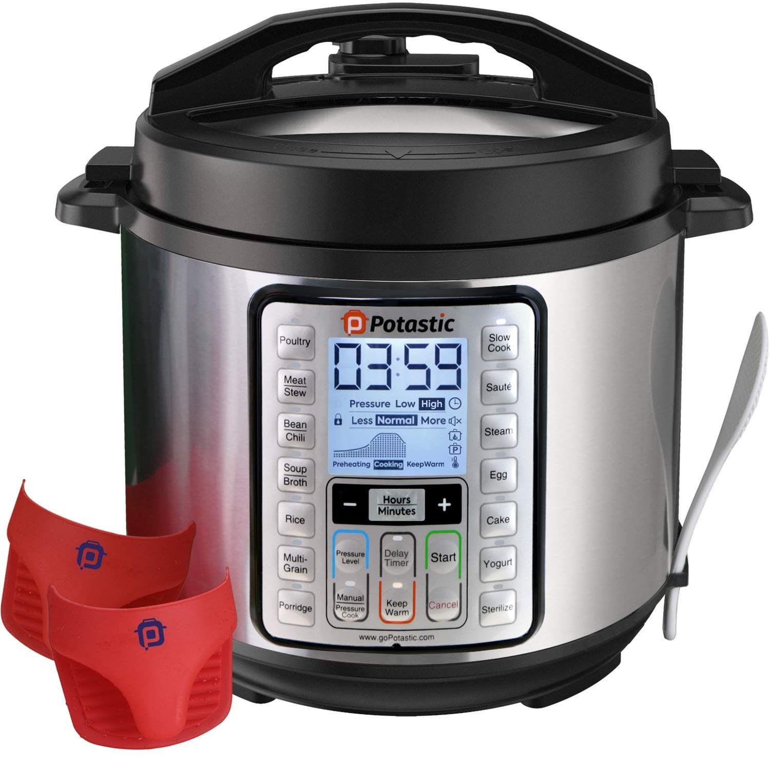 alpha-grp.co.jp Canner with Measuring Cup 10-QT, Stainless Steel ...