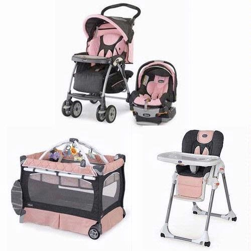 Chicco Matching Stroller System High Chair And Play Yard Combo