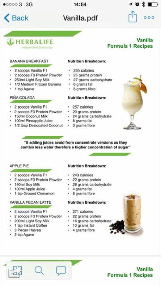 Herbalife Shake Recipes, Herbalife Recipes