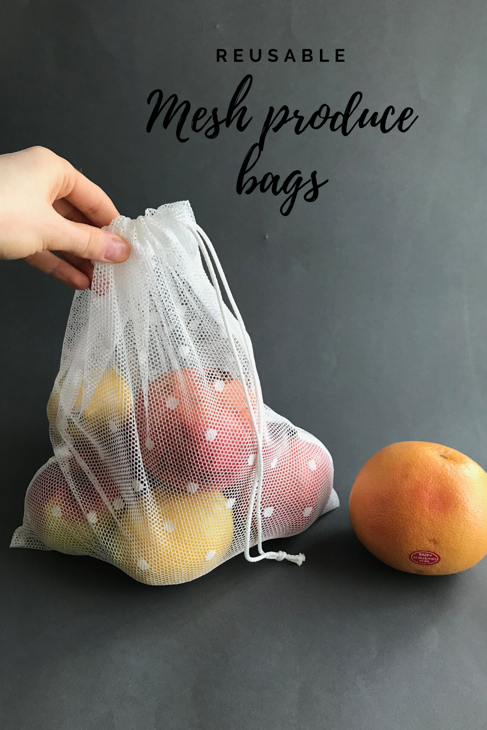 Set Of 3 Mesh Produce Bags And Linen Zipper Pouch For Storage Etsy In 2020 Reusable Produce Bags Produce Bags Zero Waste Lifestyle