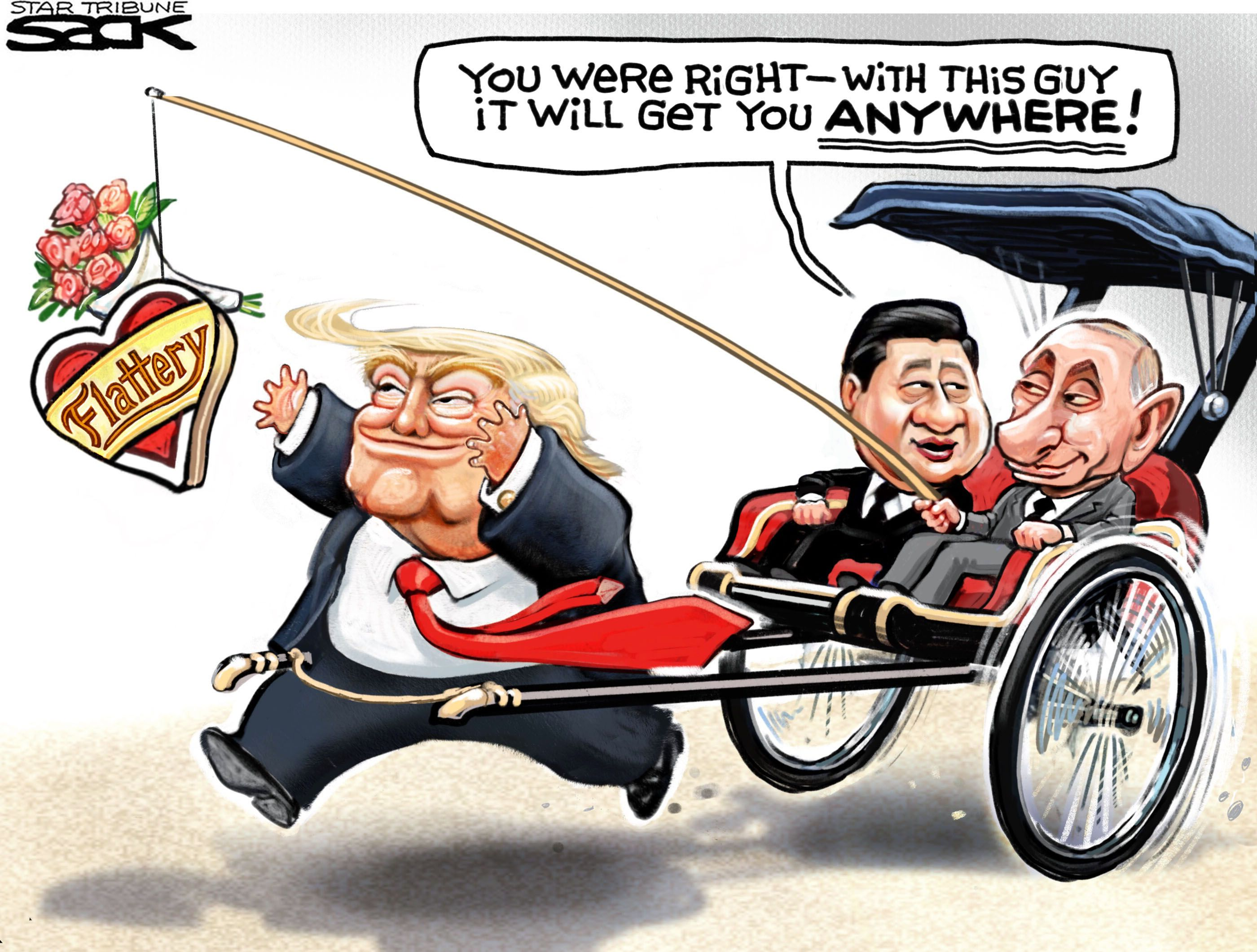 Image result for trump xi cartoon