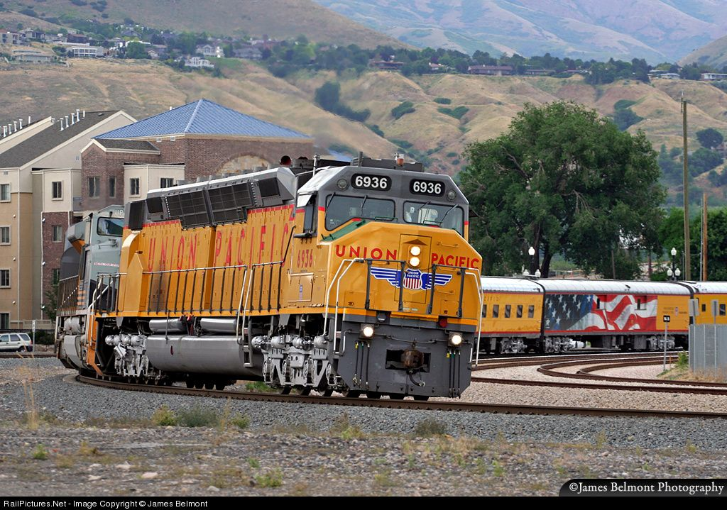 Net Photo: Union Pacific #6936 EMD DD40X CP C783 Grant Tower, UP Lynndyl  Subdivision Salt Lake City, Utah. Approaching the end of a long journey  that began ...