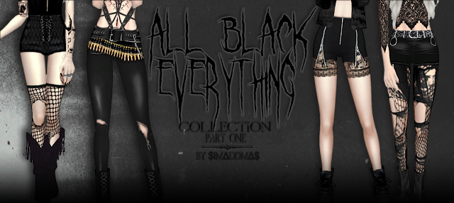 Sims 4 CC's - The Best: All Black Everything Collection by Simaddams