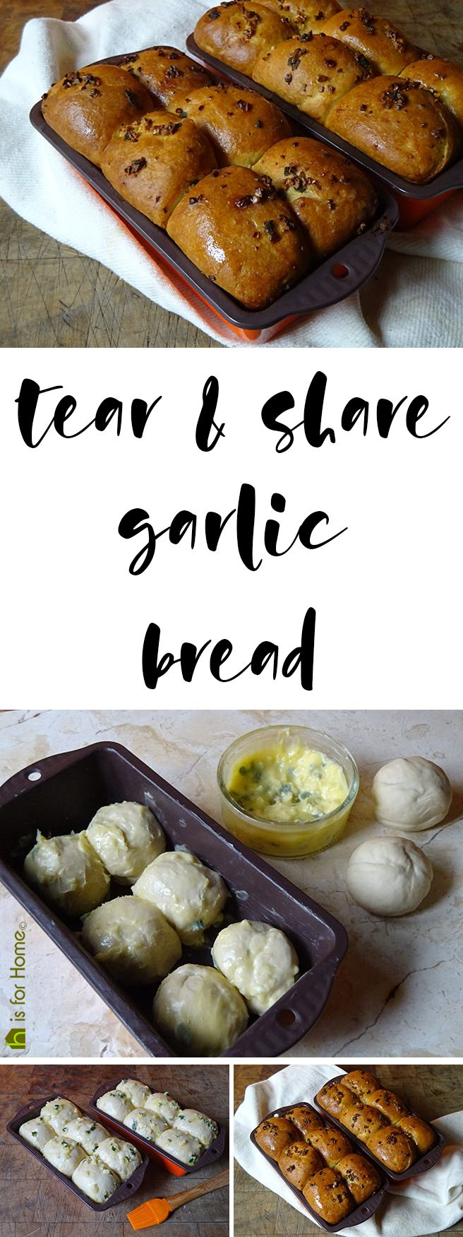 Home-made tear & share garlic bread  #recipe #bread #realbread #garlic #garlicbread #baking #cooking #cookery
