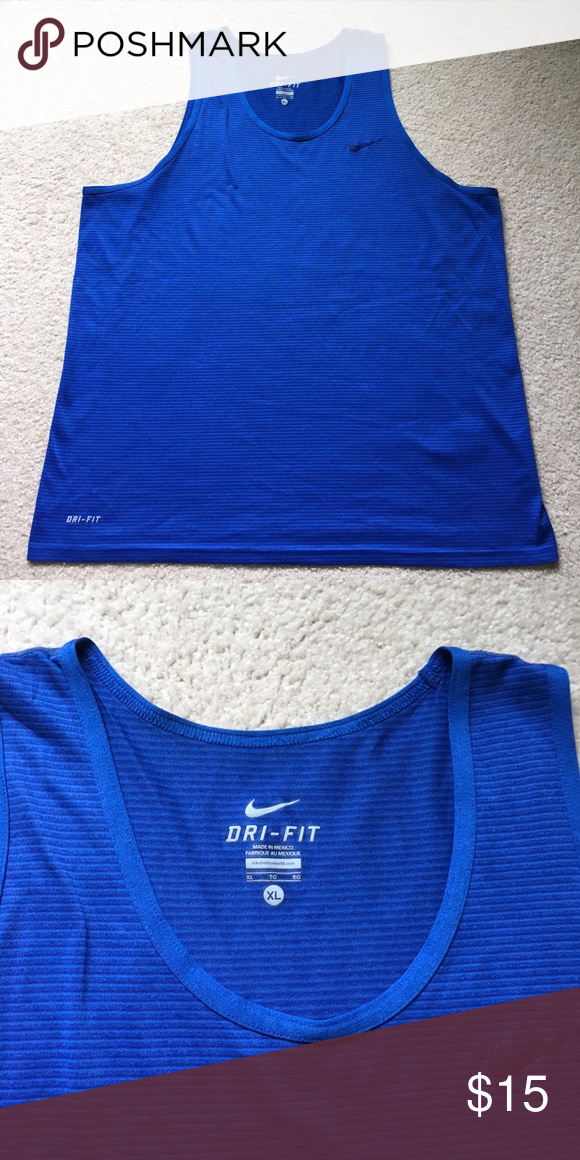 Men's NIKE tank Cobalt blue men's NIKE tank. Great condition. Size XL. No trades. No 🅿🅿. Comment for questions. Thanks for looking Nike Shirts Tank Tops