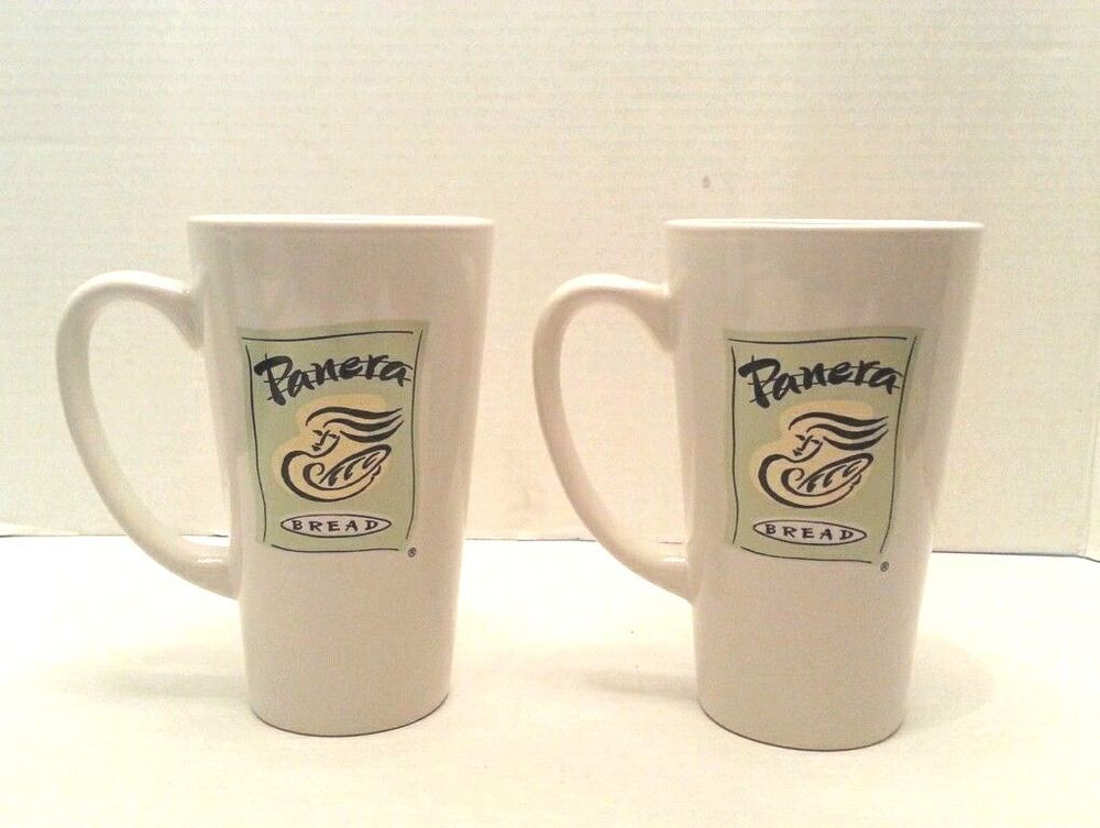 Panera Bread Coffee Box Endearing Panera Bread Coffee Mugs Tall Logo Both Sides Set Of 2 Cups #panera Inspiration Design