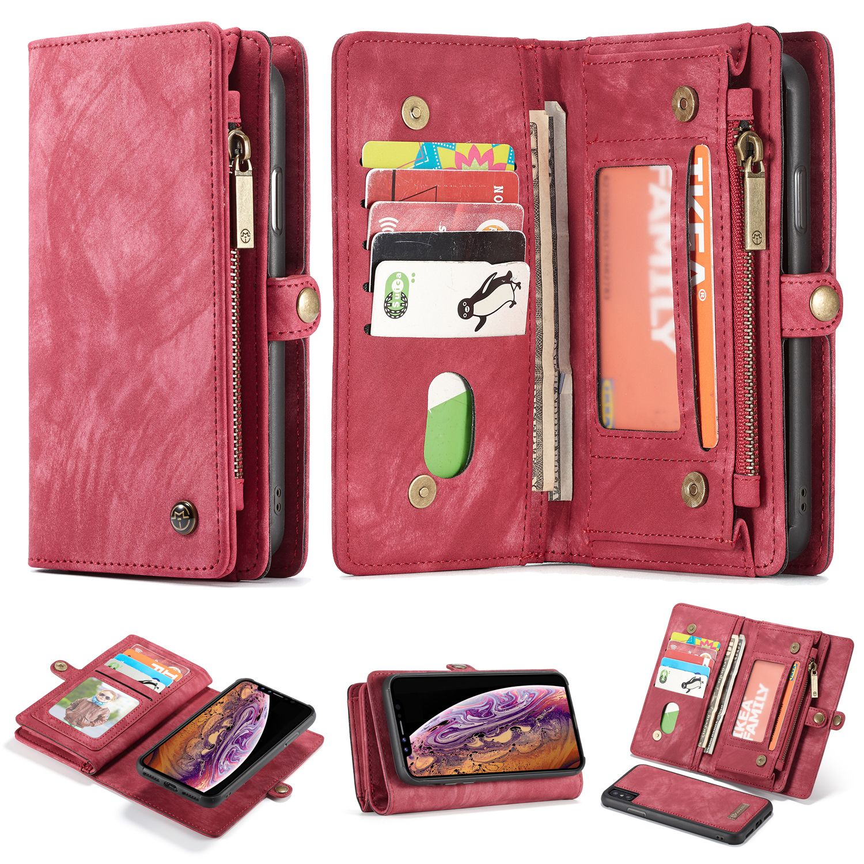 CaseMe iPhone XS Max Zipper Wallet 2 in 1 Case
