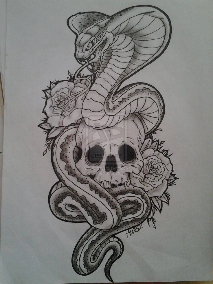 Snake & skull | tattoo idea$ | Pinterest | Snake, Tattoo ...