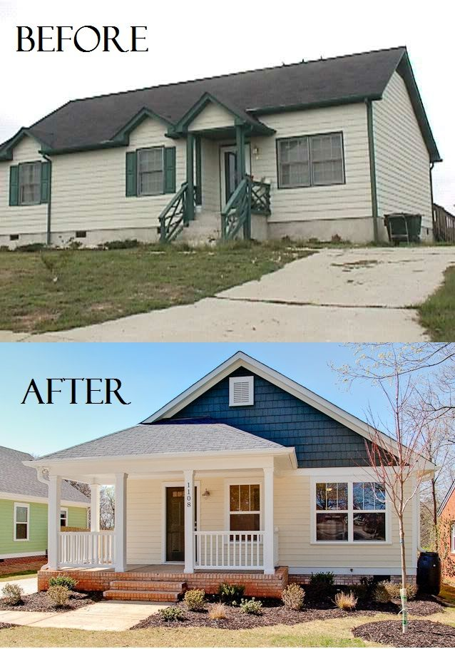Front Porch Ideas To Add More Aesthetic Appeal To Your Home: Single Family Home: Before And After BuildersofHope.org
