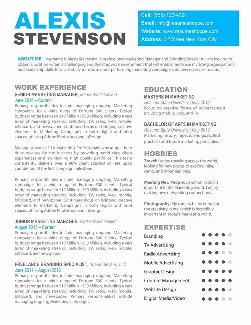 Free Resume Templates for Mac Best Of Template for Resume