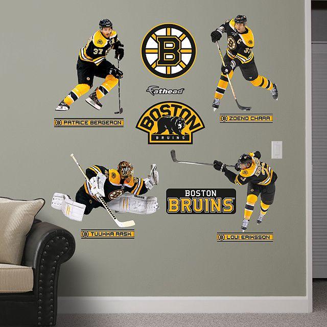 Fathead Wall Graphic Boston Bruins Decal Sports Home Decor Hockey Bedroom Man Cave Nursery
