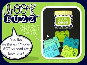 Get your students buzzing and sharing about books with your own buzz book box. *Re-download if you downloaded prior to 6/26- the first page of tabs were not staggered. They are now :)* This resource includes both pre-made and editable tabs that you can use to implement a peer recommendation station for books.