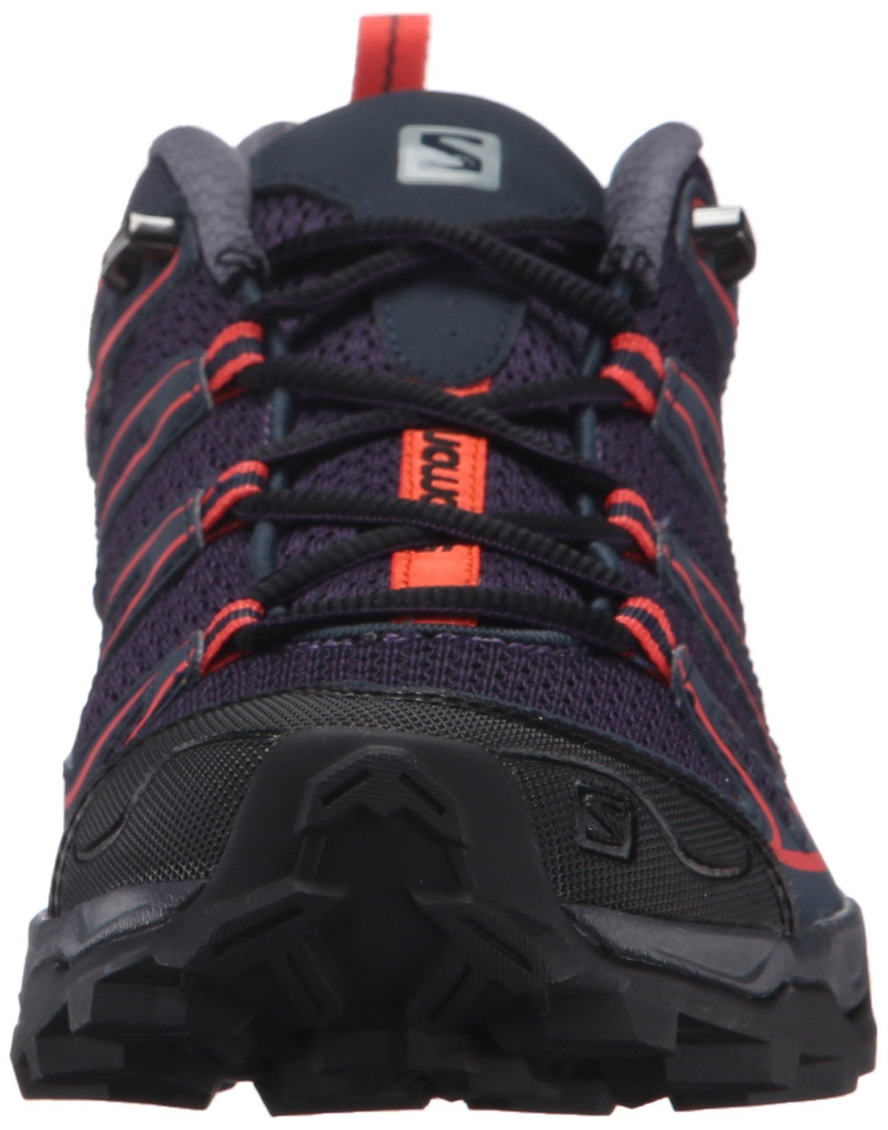 57f5a2e2a0df Salomon Womens X Ultra Prime W Hiking Shoe Nightshade Grey Deep Blue Coral  Punch