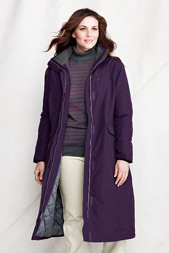 b50b715b39 Women's Stadium Squall Coat from Lands' End (in Blackberry ...