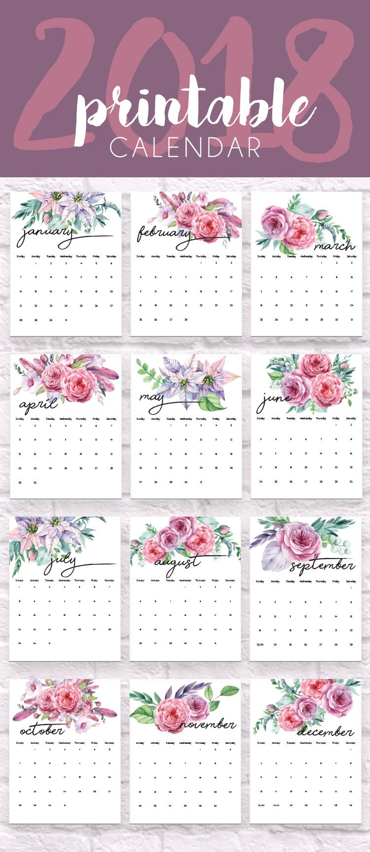 Calendrier Vista Print.2020 Printable Calendars And Planners Free Printable