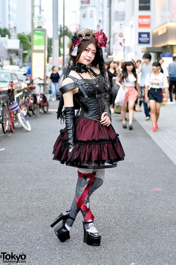 46885b4c92c Rumina is a friendly and stylish Japanese gothic lolita who we met on the  street in Harajuku. Her look features a harness