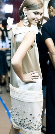 Backstage at Tory Burch Spring 2012...LOVE IT