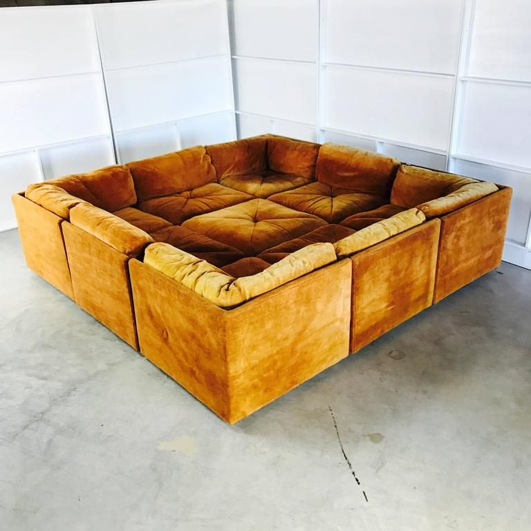20th Century Ten Piece Sectional Sofa Pit In The Style Milo Baughman By Selig For Sale Built In Sofa Sectional Sofa Sale Modern Sofa Sectional