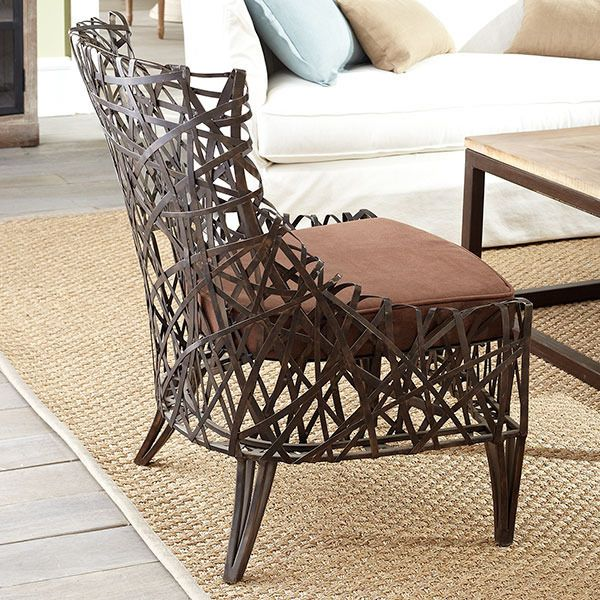 Very cool iron chair!   Decorating   Pinterest ...