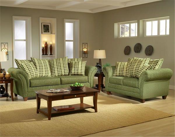 El color verde para la sala verde decoraci n hogar for Decoracion de muebles de sala