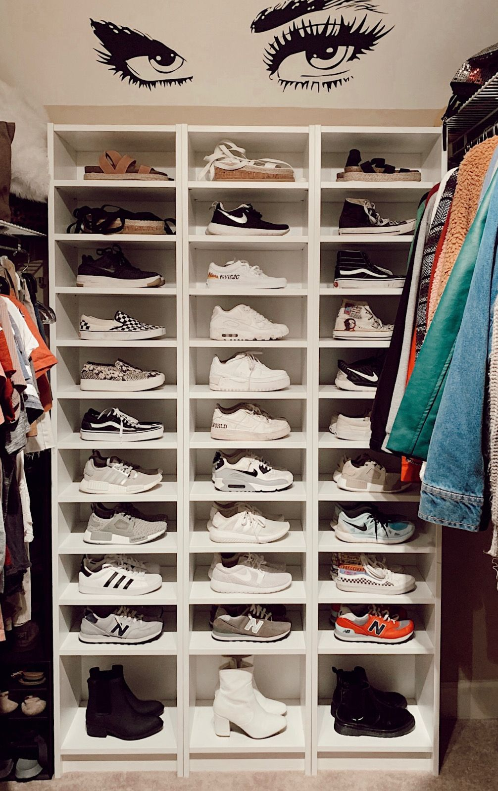 Pin by havala stanley on shoes | Shoe room, Shoe wall, Shoe