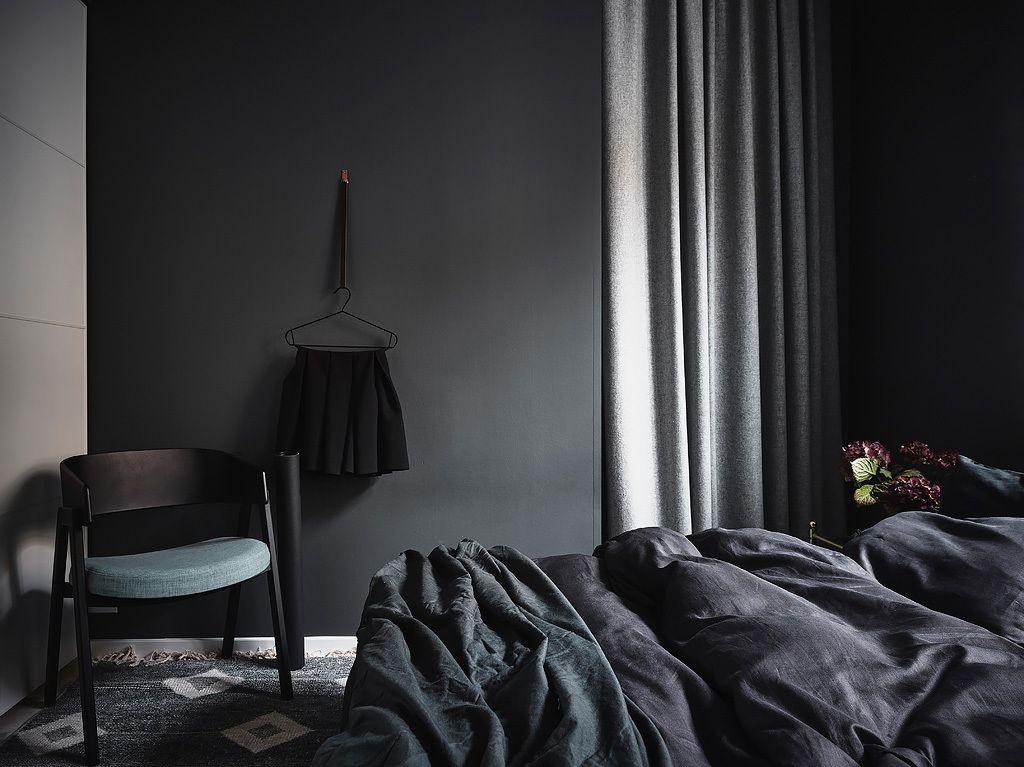Slaapkamer Zwarte Muren : Slaapkamer met zwarte muren woonkamer inspiratie pinterest