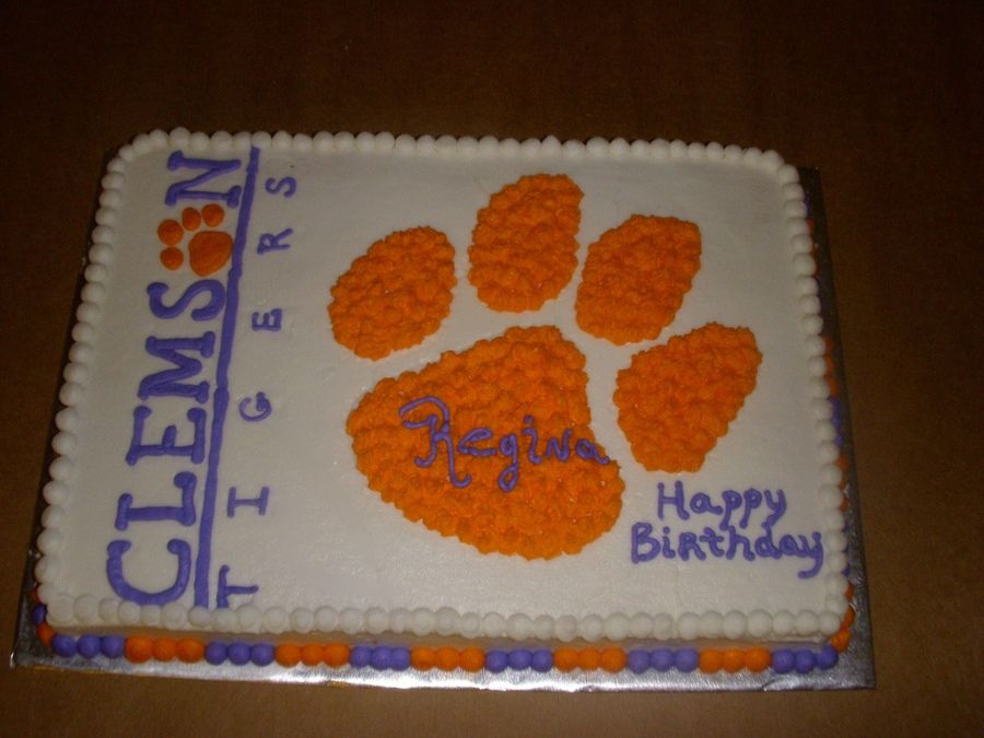 Clemson Tigers Cake Google Search Im A Tiger Till The End