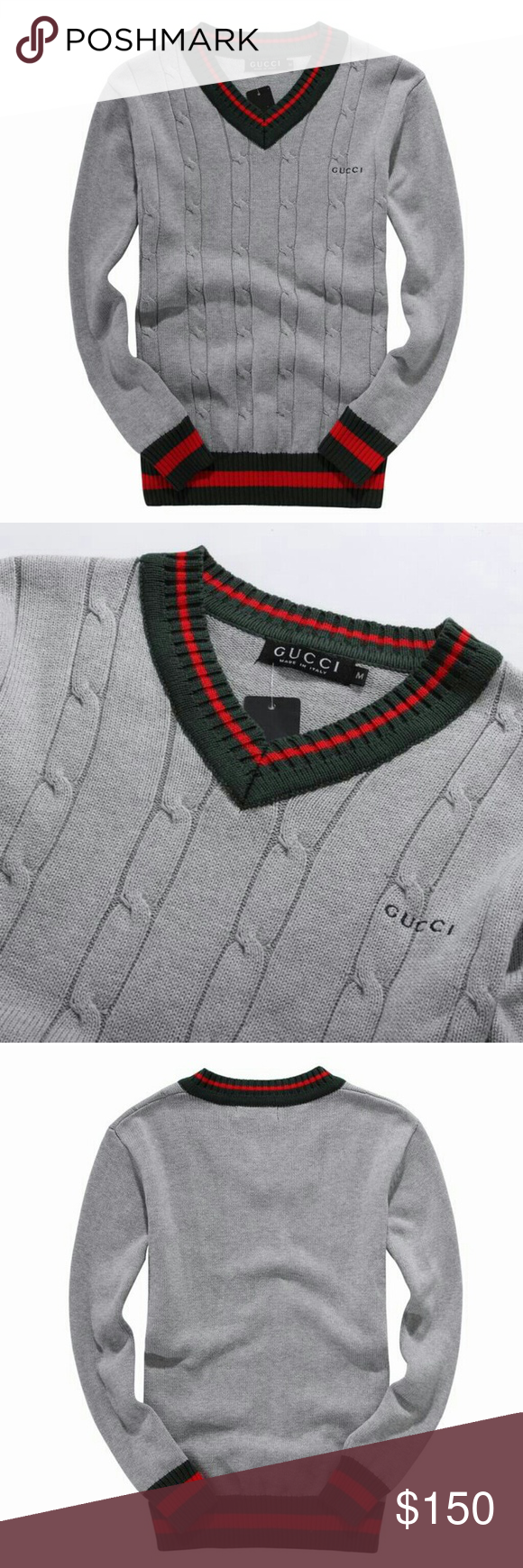 Gucci sweater V-neck Gucci Sweater V-Neck Gucci Sweaters V-Neck