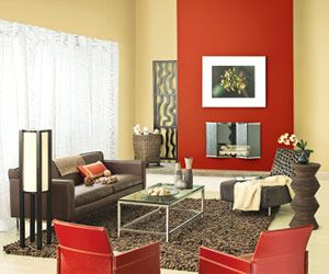i dream of new kitchens | red accents, cream living rooms and walls