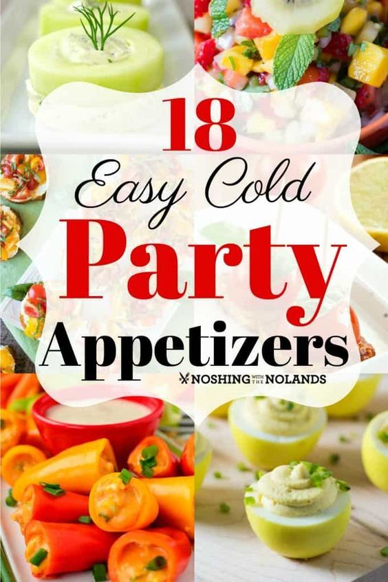 Photo of 18 Easy Cold Party Appetizers for any season & great make ahead recipes