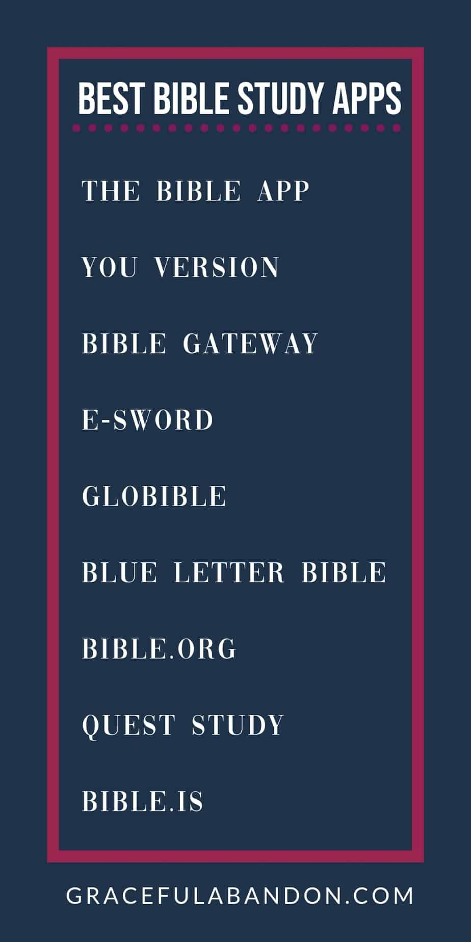 Best Bible Study Apps For Your Busy Life | The Best of Graceful