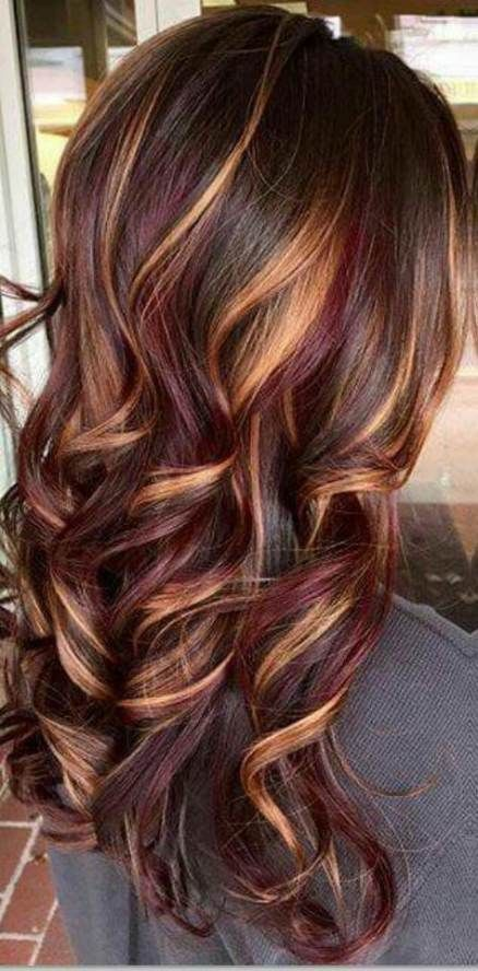 32+ Trendy Ideas For Hair Color Ideas For Brunettes With Lowlights Red Haircuts