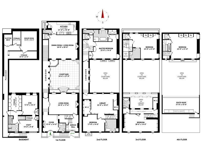 new york townhouse floor plans. Townhouse for sales at Barbara Rutherford Hatch House Wide 153 East Street  New York NY 10065 United States Step Inside Spike Lee s Historic Listed For 32M