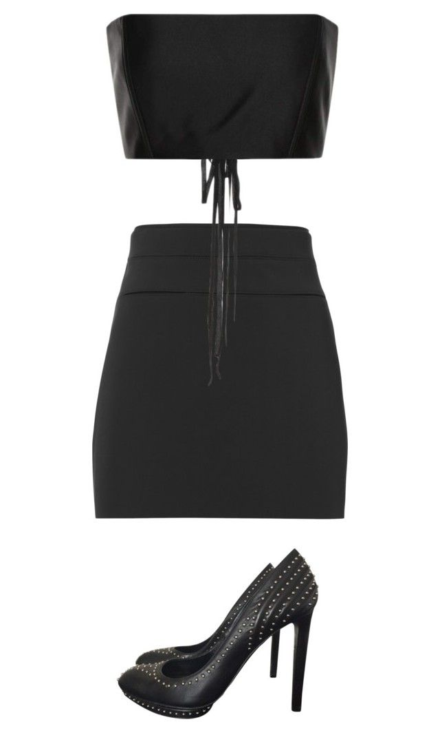 """""""Untitled #55"""" by sachidesai13 ❤ liked on Polyvore featuring Alexander McQueen, Helmut Lang and The Row"""