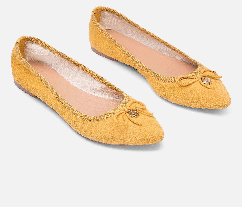 Baleriny Damskie Zolte 24134 02 08 Z Kolekcji 2019 Sklep Internetowy Kazar Shoes Fashion Flats